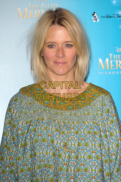 Edith Bowman<br /> The screening of Disney's &quot;the Little Mermaid&quot; held at the Royal Albert Hall, London, England.<br /> August 29th, 2013<br /> half length green blue yellow pattern dress headshot portrait <br /> CAP/CJ<br /> &copy;Chris Joseph/Capital Pictures