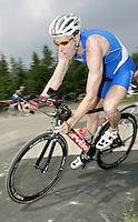 09 JUN 2007 - TREDEGAR, UK - Andrew Johns - National Elite Triathlon Championships and Corus Elite Triathlon Series Rd 2. (PHOTO (C) NIGEL FARROW)