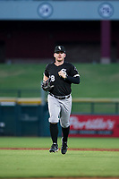 AZL White Sox left fielder Alex Destino (18) jogs off the field between innings of the game against the AZL Cubs on August 13, 2017 at Sloan Park in Mesa, Arizona. AZL White Sox defeated the AZL Cubs 7-4. (Zachary Lucy/Four Seam Images)