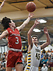Ryan Vaughn #3 of Connetquot, left, shoots with his left hand during a Suffolk II boys basketball game against host Northport High School on Wednesday, Jan. 9, 2019.