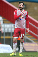 Jake Cassidy of Stevenage during Stevenage vs Salford City, Sky Bet EFL League 2 Football at the Lamex Stadium on 15th February 2020