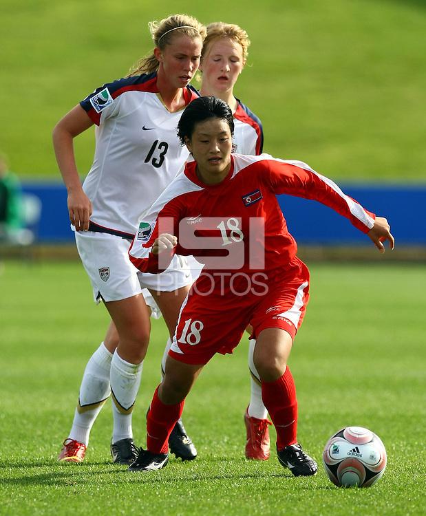 Un Hyang Kim (PRK)..FIFA U17 Women's World Cup Final, USA v Korea DPR, Albany Stadium, Auckland, New Zealand, Sunday 16 November 2008. Photo: Renee McKay/PHOTOSPORT