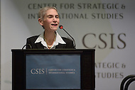 Washington, DC - February 3, 2016: U.S. Ambassador Tina S. Kaidanow talks about the Unites States' approach to counterterrorism and fighting ISIS during a discussion at the Center for Strategic and International Studies in the District of Columbia, February 3, 2016. The conversation was moderated by Thomas Sanderson, Director and senior Fellow, CSIS Transnational Threats Projects.  (Photo by Don Baxter/Media Images International)
