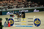 Jessica Mendoza of United Kingdom riding Ramiro de Belle Vue in action during the Longines Speed Challenge competition as part of the Longines Hong Kong Masters on 13 February 2015, at the Asia World Expo, outskirts Hong Kong, China. Photo by Li Man Yuen / Power Sport Images