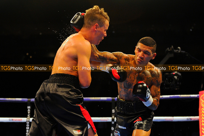 Conor Benn defeats Mike Cole during a Boxing Show at the O2 Arena on 1st July 2017