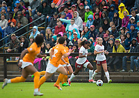 STANFORD, CA - November 23, 2018: Catarina Macario, Jojo Harber at Laird Q. Cagan Stadium. The top seeded Stanford Cardinal defeated the Tennessee Volunteers 2-0 in the Quarterfinal of the NCAA tournament.