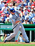 25 April 2010: Los Angeles Dodgers' starting pitcher Chad Billingsley at bat against the Washington Nationals at Nationals Park in Washington, DC. The Nationals shut out the Dodgers 1-0 to take the rubber match of their 3-game series. Mandatory Credit: Ed Wolfstein Photo