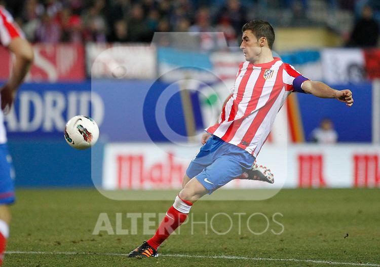 Madrid (05/02/2012) LIGA BBVA.Atletico de Madrid- Valencia C.F...GABI.....