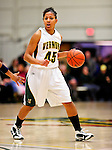 31 January 2010: University of Vermont Catamount guard/forward Sofia Iwobi, a Senior from Fairfield, IA, in action against the University of New Hampshire Wildcats at Patrick Gymnasium in Burlington, Vermont. The Lady Catamounts defeated the visiting Wildcats 78-64. Mandatory Credit: Ed Wolfstein Photo