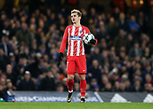 5th December 2017, Stamford Bridge, London, England; UEFA Champions League football, Chelsea versus Atletico Madrid; Antoine Griezmann of Atletico Madrid holding the match ball