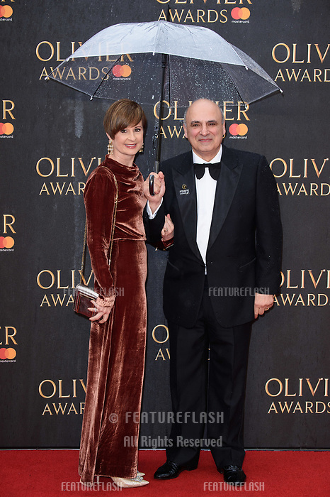 Peter Polycarpou arriving for the Olivier Awards 2018 at the Royal Albert Hall, London, UK. <br /> 08 April  2018<br /> Picture: Steve Vas/Featureflash/SilverHub 0208 004 5359 sales@silverhubmedia.com