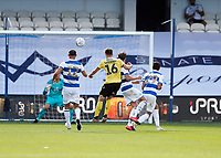 18th July 2020; The Kiyan Prince Foundation Stadium, London, England; English Championship Football, Queen Park Rangers versus Millwall; Jayson Molumby of Millwall shoots and scores his sides 3rd goal in the 96th minute to make it 4-3