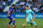 Denis Suarez Fernandez (r) of FC Barcelona is tackled by Joseba Zaldua Bengoechea of CD Leganes during the La Liga 2017-18 match between CD Leganes vs FC Barcelona at Estadio Municipal Butarque on November 18 2017 in Leganes, Spain. Photo by Diego Gonzalez / Power Sport Images