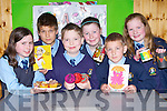 Young entrepreneurs in St Oliver's NS Killarney who held a sale of their inventions in the school on Wednesday front row l-r: Sinead Bartley, Christopher Nemcavius, Jonah Horgan, Cliona Palmer, Grigoriy Geniyevskiy and Anna Culloty..