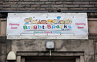 "Pictured: Bright Sparks nursery in the Taibach area of Port Talbot, Wales, UK. 28 March 2017<br /> Re: Toddlers at a private nursery were force fed, gagged and picked up by their wrists, Swansea Crown court has heard.<br /> Three childcare professionals are accused of cruelty at the busy nursery which had a ""rough house culture"".<br /> The whistle was blown by sixthformers on work placements at the nursery which looks after newborn infants and children up to the age of seven.<br /> ""The children concerned were left distressed and traumatised.<br /> The mother of one of the children sobbed in the public gallery after hearing how he was treated at the Bright Sparks nursery in Port Talbot, South Wales,<br /> Owner and manager Katie Davies, 32, deputy manager Christina Pinchess, 31, and and staff member Shelbie Forgan, 22, deny the child cruelty charges against them."