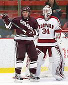 Chris Wagner (Colgate - 23), Steve Michalek (Harvard - 34) - The Harvard University Crimson defeated the visiting Colgate University Raiders 4-2 on Saturday, November 12, 2011, at Bright Hockey Center in Cambridge, Massachusetts.