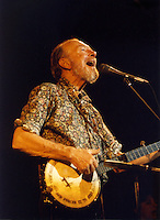 Pete Seeger Performing at Symphony Hall Boston MA 1984