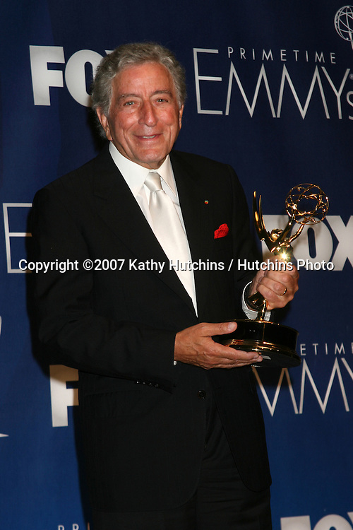 Tony Bennett.Emmy Awards 2007 - Press Room.Shrine Auditorium.Los Angeles,  CA.September 16, 2007.©2007 Kathy Hutchins / Hutchins Photo...