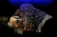 Proiezioni di luce su La Nuvola<br /> Roma 19-07-2016 Apertura in anteprima per la stampa del 'La Nuvola' ideata dall'architetto Massimiliano Fuksas. Per l'occasione l'opera e' stata illuminata per la prima volta con spettacolari proiezioni.<br /> Opening for the press and lighting of 'The Cloud', the new Eur Convention centre by the famous archistar Massimiliano Fuksas. The Cloud's history began 18 years ago, wen the project began, its construction started in 2008, but, due mainly to the huge cost of the opera, the project took almost 10 years to be realized.<br /> Photo Samantha Zucchi Insidefoto