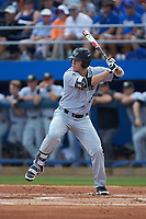 Gavin Sheets (24) of the Wake Forest Demon Deacons at bat against the Florida Gators in Game One of the Gainesville Super Regional of the 2017 College World Series at Alfred McKethan Stadium at Perry Field on June 10, 2017 in Gainesville, Florida. The Gators defeated the Demon Deacons 2-1 in 11 innings. (Brian Westerholt/Four Seam Images)