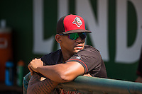 Jacob Constante (61) of the Billings Mustangs before the game against the Ogden Raptors in Pioneer League action at Lindquist Field on August 16, 2015 in Ogden, Utah. Billings defeated Ogden 6-3.  (Stephen Smith/Four Seam Images)