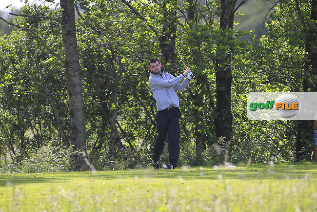Stephen Brady (Galway) on the 14th tee during Round 4 of the Connacht Stroke Play Championship at Athlone Golf Club Sunday 11th June 2017.<br /> Photo: Golffile / Thos Caffrey.<br /> <br /> All photo usage must carry mandatory copyright credit     (&copy; Golffile | Thos Caffrey)