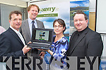 Pictured at the official launch of the gokerry.ie website on Friday in IT Tralee, from left: Stewart Stephens (GoKerry), Arthur Spring (GoKerry), Mary Rose Stafford (GoKerry), and Stephen O?Sullivan (Splash)..