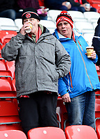 Fleetwood Town fans look on<br /> <br /> Photographer Richard Martin-Roberts/CameraSport<br /> <br /> The EFL Sky Bet League One - Fleetwood Town v Plymouth Argyle - Saturday 10th March 2018 - Highbury Stadium - Fleetwood<br /> <br /> World Copyright &not;&copy; 2018 CameraSport. All rights reserved. 43 Linden Ave. Countesthorpe. Leicester. England. LE8 5PG - Tel: +44 (0) 116 277 4147 - admin@camerasport.com - www.camerasport.com