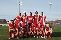 Western New York Flash starting XI. Sky Blue FC defeated the Western New York Flash 1-0 during a National Women's Soccer League (NWSL) match at Yurcak Field in Piscataway, NJ, on April 14, 2013.