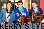 Performing on the street at Feile Neidin in Kenmare last weekend. .L-R Maebh and Pat Daly and Hannah Collins from Bantry.