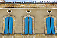 Window shutters, Bastide d'Armagnac, France