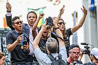 Nova York (EUA), 10/07/2019 -  Governador de Nova York Andrew Cuomo  recebe a Seleção feminina de futebol dos Estados Unidos atual campeão da Copa do Mundo de Futebol Feminino 2019 é recebida pelos torcedores na cidade de Nova York nesta quarta-feira, 10. (Foto: William Volcov/Brazil Photo  Press)