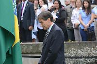 RIO DE JANEIRO, RJ, 15 AGOSTO 2012 -  HASTEAMENTO DA BANDEIRA OLIMPICA NO PALACIO DA CIDADE- Luis Fernandes, Secretario Executivo do Ministerio do Esporte participa do hasteamento da Bandeira Olimpica,nesta tarde de quarta feira, 15 de agotso,no Palacio da Cidade, em Botafogo, zona sul do Rio de Janeiro.(FOTO:MARCELO FONSECA / BRAZIL PHOTO PRESS).