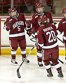 Kate Buesser (Harvard - 20) is announced as a starter. - The Boston College Eagles defeated the visiting Harvard University Crimson 6-2 on Sunday, December 5, 2010, at Conte Forum in Chestnut Hill, Massachusetts.