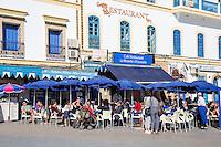 Essaouira, Morocco.  Outdoor Cafe Restaurant.