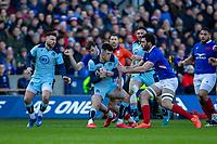 8th March 2020; Murrayfield Stadium, Edinburgh, Scotland; International Six Nations Rugby, Scotland versus France; Blair Kinghorn of Scotland is tackled