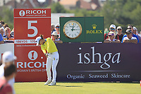 Minjee Lee (AUS) on the 5th tee during Round 4 of the Ricoh Women's British Open at Royal Lytham &amp; St. Annes on Sunday 5th August 2018.<br /> Picture:  Thos Caffrey / Golffile<br /> <br /> All photo usage must carry mandatory copyright credit (&copy; Golffile | Thos Caffrey)