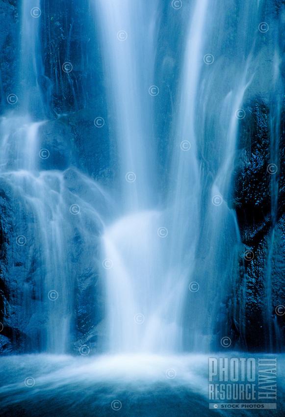 Waterfalls close up, Hana, Maui