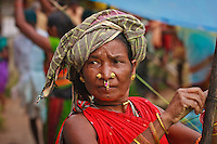 Gond tribe woman at Lohandiguda market in Chhattisgarh India