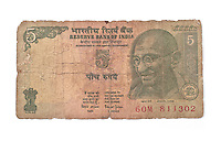 Better get used to seeing Ghandi G as he's on every denomination of bank note from the lowly grubby five rupee right up to the crisp selective one thousand.<br />