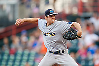 Trenton Thunder starting pitcher Will Carter (22) delivers a pitch during a game against the Richmond Flying Squirrels on May 11, 2018 at The Diamond in Richmond, Virginia.  Richmond defeated Trenton 6-1.  (Mike Janes/Four Seam Images)