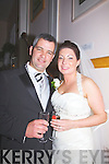 Hazel O'Sullivan, daughter of Patrick Ned & Nora, Keelnabrack, Glenbeigh, and Cristo?ir Cournane, son of Paddy & Eileen, Cahersiveen, who were married on Friday in St . James' Church, Glenbeigh.  Fr Jerry Keane officiated at the ceremony.  Best man was Brendan Cournane and groomsmen were Ger Cournane, Padraig Cournane & Michea?l Cournane.  Chief Bridesmaid was Emer O'Sullivan assisted by Joanne Murphy, Chantal Seidler and Evelyn Barton.  Flowergirls were Leah White & Aoife Cournane.  Pageboys were Conall Cournane & Jack McGrath.  The reception was held at The Waterville Lake Hotel, and the couple will reside in Dooneen, Cahersiveen..
