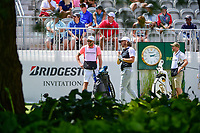 Tommy Fleetwood (ENG) watches his tee shot on 10 during Saturday's round 3 of the World Golf Championships - Bridgestone Invitational, at the Firestone Country Club, Akron, Ohio. 8/5/2017.<br /> Picture: Golffile | Ken Murray<br /> <br /> <br /> All photo usage must carry mandatory copyright credit (&copy; Golffile | Ken Murray)