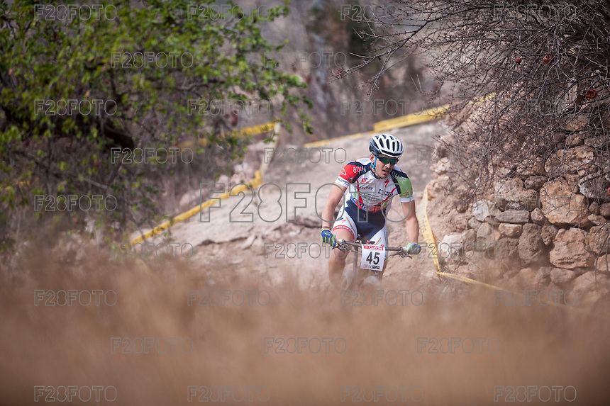 Chelva, SPAIN - MARCH 6: Matias Adrover during Spanish Open BTT XCO on March 6, 2016 in Chelva, Spain