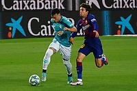 16th July 2020; Camp Nou, Barcelona, Catalonia, Spain; La Liga Football, Barcelona versus Osasuna; Jose Arnaiz outpaces Ricki Puig of Barca to break away
