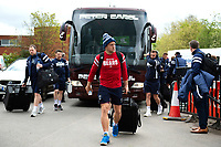 Ian Madigan and the rest of the Bristol Bears team arrive at Welford Road. Gallagher Premiership match, between Leicester Tigers and Bristol Bears on April 27, 2019 at Welford Road in Leicester, England. Photo by: Patrick Khachfe / JMP