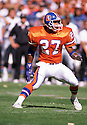 Denver Broncos Steve Atwater (27) during a game from his career with the Broncos. Steve Atwater played for 11 years with 2 different teams, was a 8-time Pro Bowler.