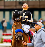 DECEMBER 01, 2018 : Marley's Freedom, ridden by Mike Smith, wins the Go for Wand Handicap at Aqueduct Racetrack on December 24, 2018 in Ozone Park, NY.  Sue Kawczynski/ESW/CSM