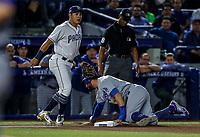 Christina Villanueva, durante el partido de beisbol de los Dodgers de Los Angeles contra Padres de San Diego, durante el primer juego de la serie las Ligas Mayores del Beisbol en Monterrey, Mexico el 4 de Mayo 2018.<br /> (Photo: Luis Gutierrez)