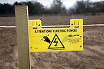Attention Electric Fence warning sign